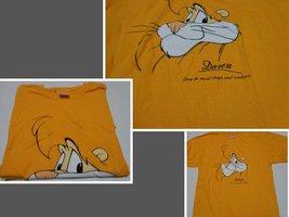 DARE T-Shirt Sz XL Yellow NWOT Gildan Heavy Cotton - $8.99