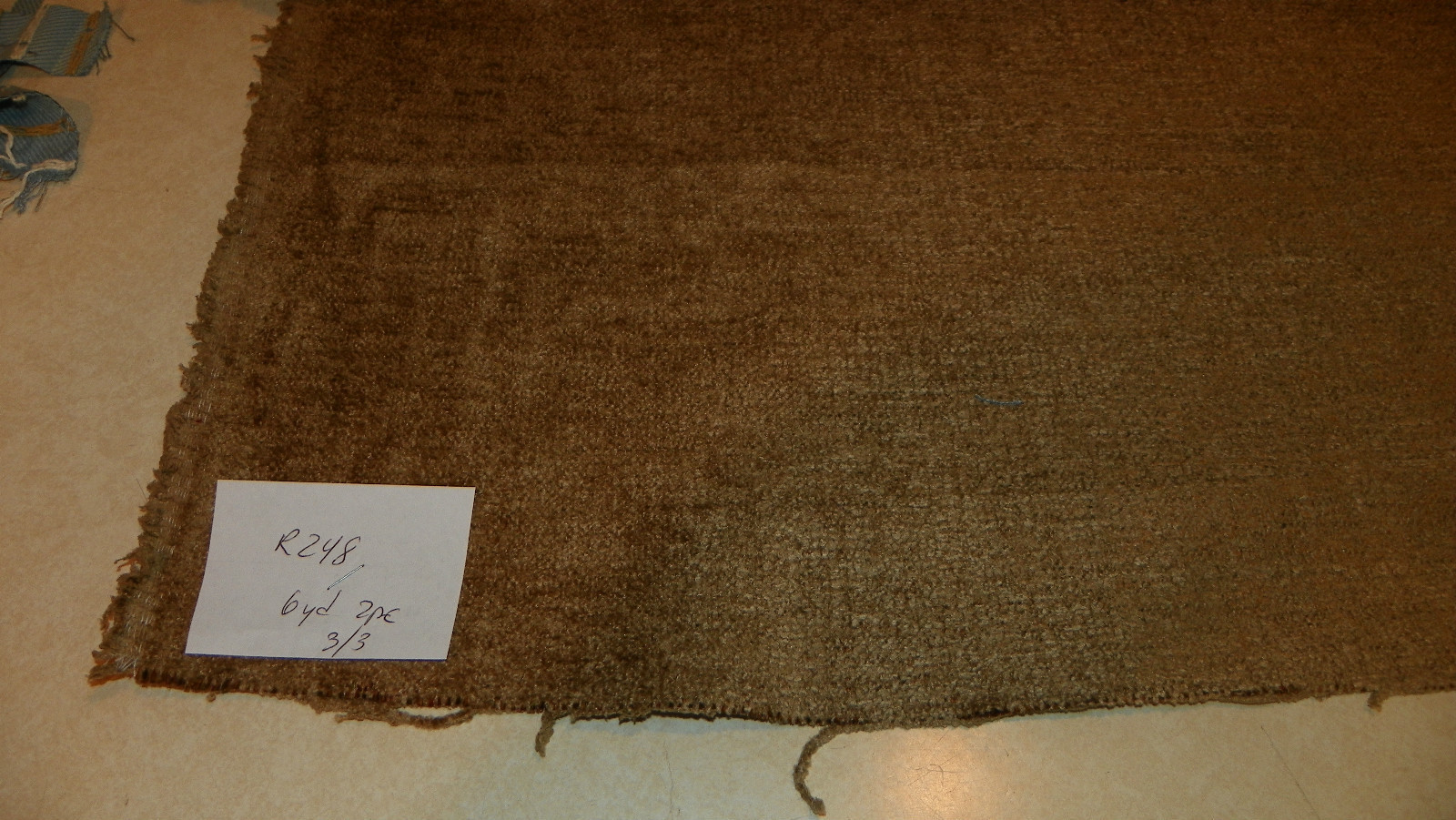 Primary image for Heavy Harvest Gold Chenille Upholstery Fabric  1 Yard  R248