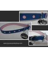 "Fancy Dog Collar NWT Adjustable 22"" Large Breed Blue & Pink - $8.99"