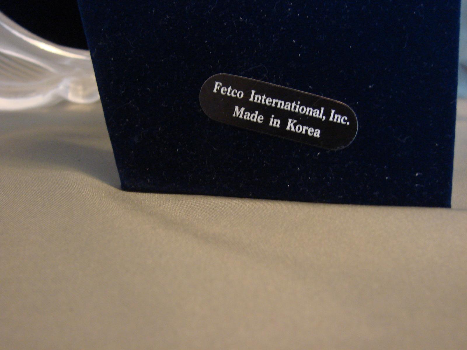 Fetco International 5 x7  Crystal Photo Frame New