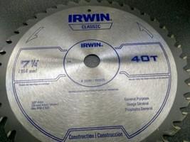 "Irwin Classic 15230ZR 7-1/4"" x 40T General Purpose Circular Saw Blade BULK - $13.12"