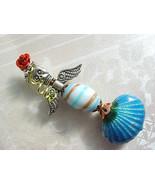 Mermaid Christmas Tree Ornament Day of the Dead La Sirena Handmade Artis... - $34.88