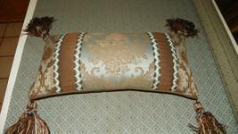 Light Turquoise & Brown Decorative Pillow  (PL93) - $39.95
