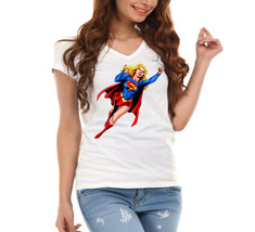 Superwoman Ladies V-Neck T-Shirt - $12.00
