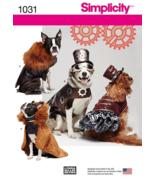 Simplicity 1031 Pet Dog Steampunk Coats Cape Hat Costumes Pattern S-M-L  - $12.99