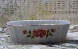 Vintage DAVAR Japan Porcelain Soap Dish // Oriental Cart With Flowers - $10.50