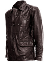 Brown DR Who Leather Coat | LJM - $199.99