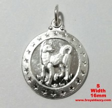 Small Chinese Zodiac Horoscope 999 fine Silver Round Year of Dog Pendant... - $11.74