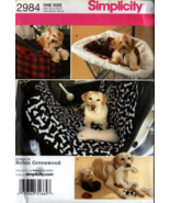 Simplicity 2984 Dog Pet Auto Travel Accessories Back Seat Covers Toys Pa... - $12.99