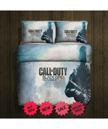 Call Of Duty Black Ops Blanket Large & 2 Pillow Cases #96360449 ,9636045... - $83.00