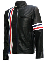 Captain America Biker Black Easy Rider Leather Jacket | LJM - $199.99