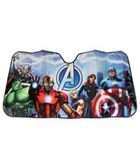 Marvel Avengers Deluxe Accordion Car Auto Windshield Sun Shade Sunshade ... - €19,42 EUR