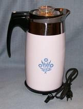 Corning Ware BLUE CORNFLOWER Electric Coffee Pot/Percolator 10 cup P-80-EP EUVC image 1