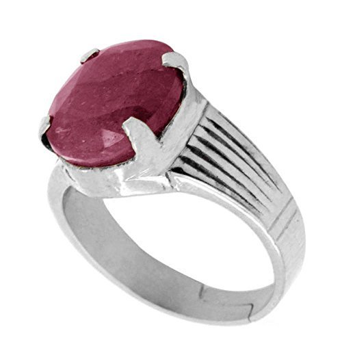 8 25 ratti ruby astrological ring in silver jewelry