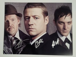 Gotham 3x Hand Signed Photo COA Ben McKenzie Robin Lord Taylor Donal Logue - $129.99