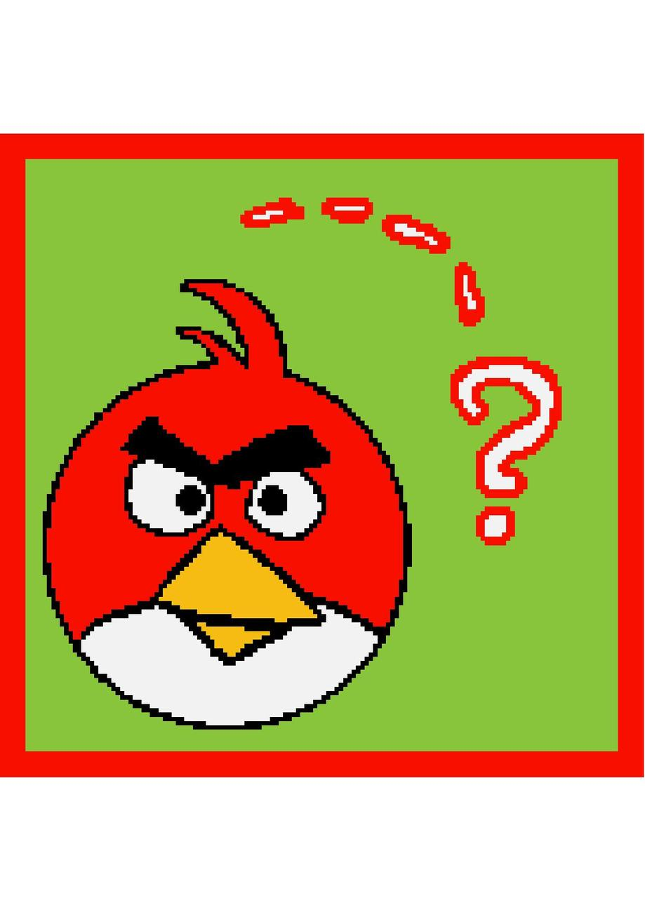Angry Bird Crochet Graph Afghan Pattern