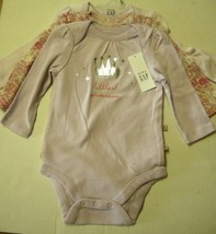 Baby One-Piece With LS By Baby Gap, size 3-6 Months, 3 Pack, Girl, Brand... - $12.99