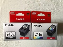 2 Pack CANON Ink Cartridges / PG-240XL Black & CL-241XL Color, OEM New-i... - $54.45