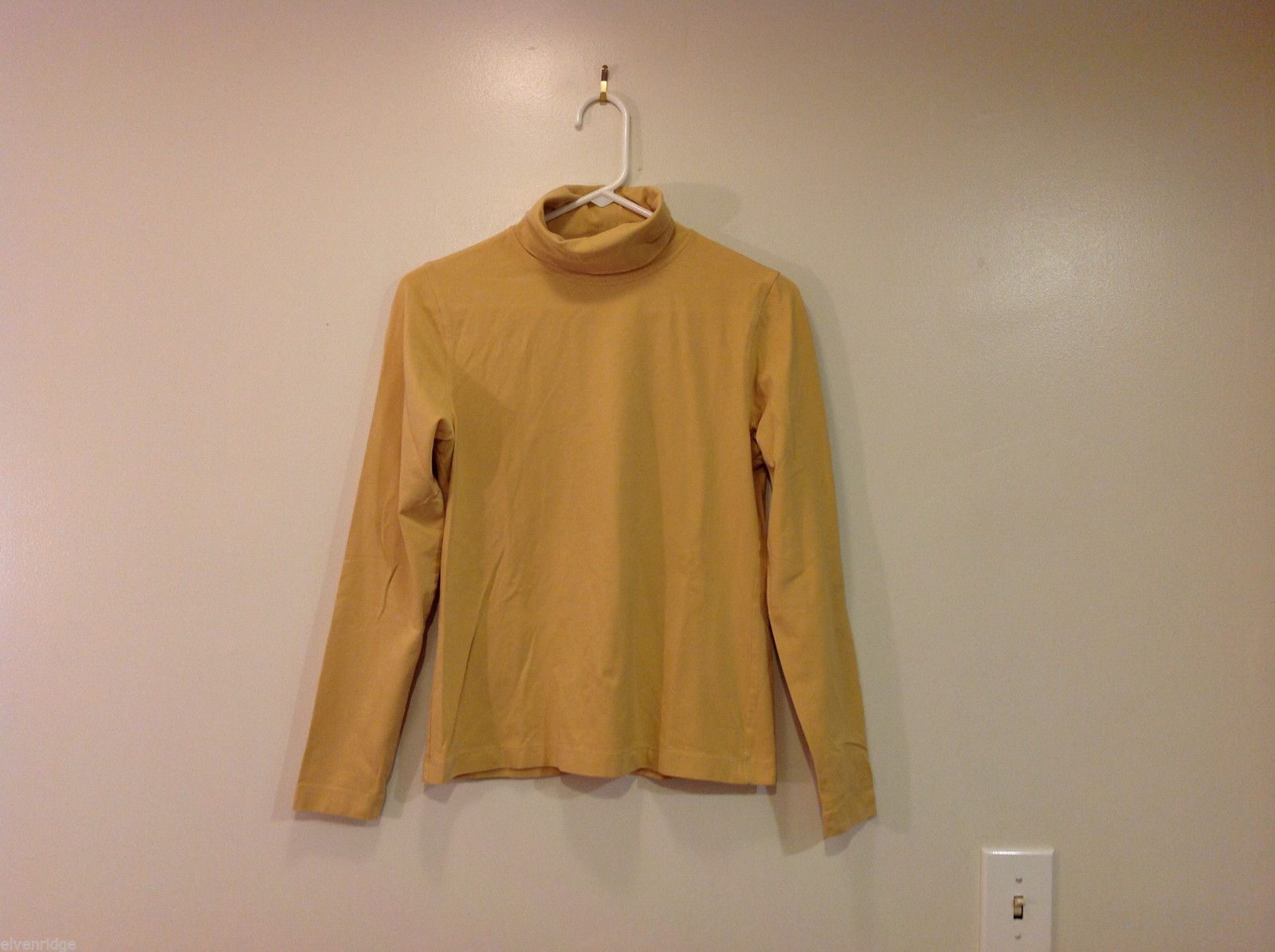 Chicos Soft Mustard Yellow Turtleneck sweater, Size 0