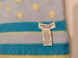 American Eagle Outfitters Striped Winter Scarf Baby Blue Yellow Turquoise image 3