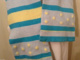 American Eagle Outfitters Striped Winter Scarf Baby Blue Yellow Turquoise image 2