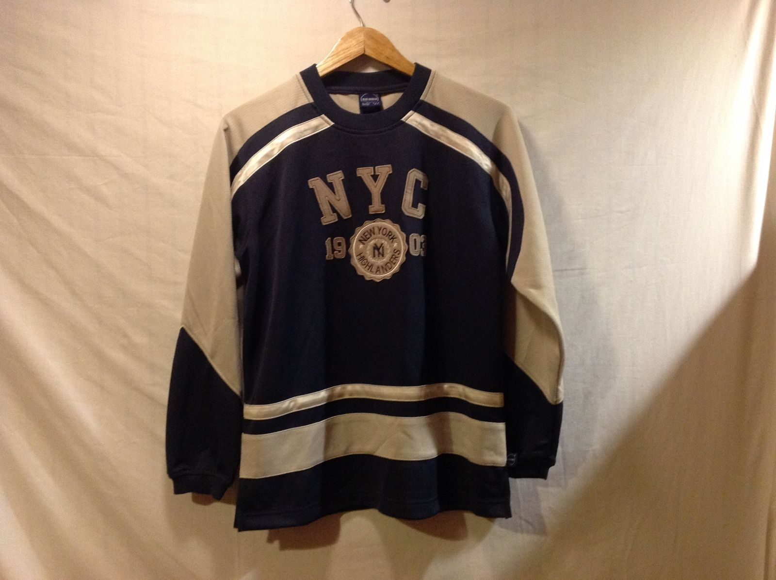 Blue Marlin Mens New York Highlanders Sweater, Size Large