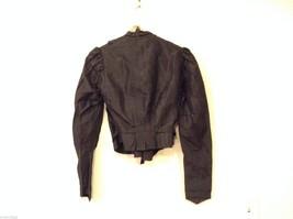 Antique Black Silk Taffeta Pleated Blouse Ruffles Museum Piece image 6