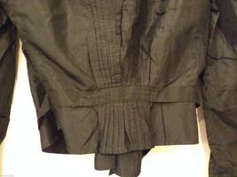 Antique Black Silk Taffeta Pleated Blouse Ruffles Museum Piece image 8