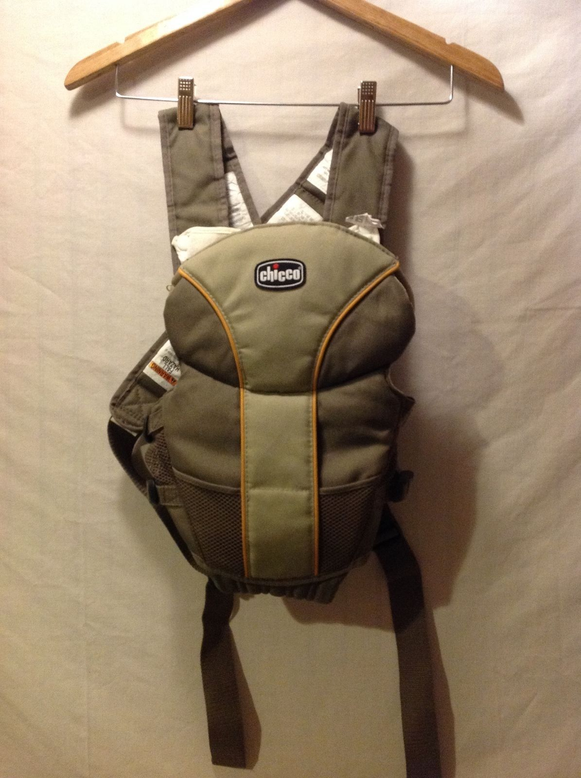 Chicco infant olive green carrier with adjustable straps