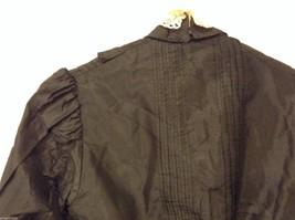 Antique Black Silk Taffeta Pleated Blouse Ruffles Museum Piece image 7