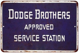 Dodge Bros. Approved Service Vintage Blue Reproduction 12x18 Metal Sign ... - $39.95