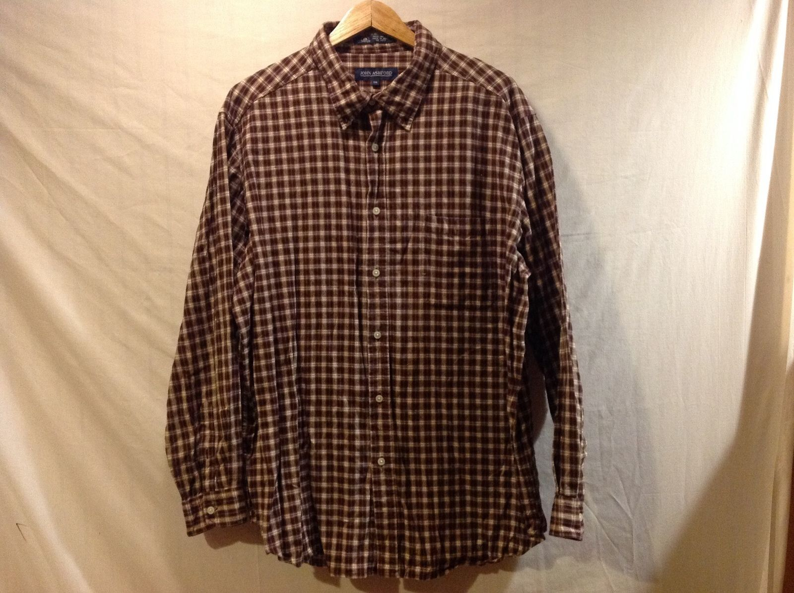John Ashford Mens Plaid Flannel Shirt  Size XXL