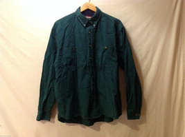 Mens Kenneth Stevens Dark Green Long Sleeve Button Up Cotton Shirt Size XL