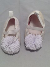 Newborn girl baby shoes/booties set of 3, size 0-3 months, 8-12 lbs. image 4