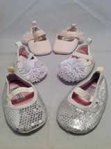 Newborn girl baby shoes/booties set of 3, size 0-3 months, 8-12 lbs. image 6