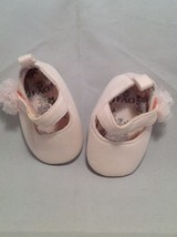 Newborn girl baby shoes/booties set of 3, size 0-3 months, 8-12 lbs. image 5