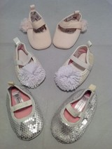 Newborn girl baby shoes/booties set of 3, size 0-3 months, 8-12 lbs. image 7
