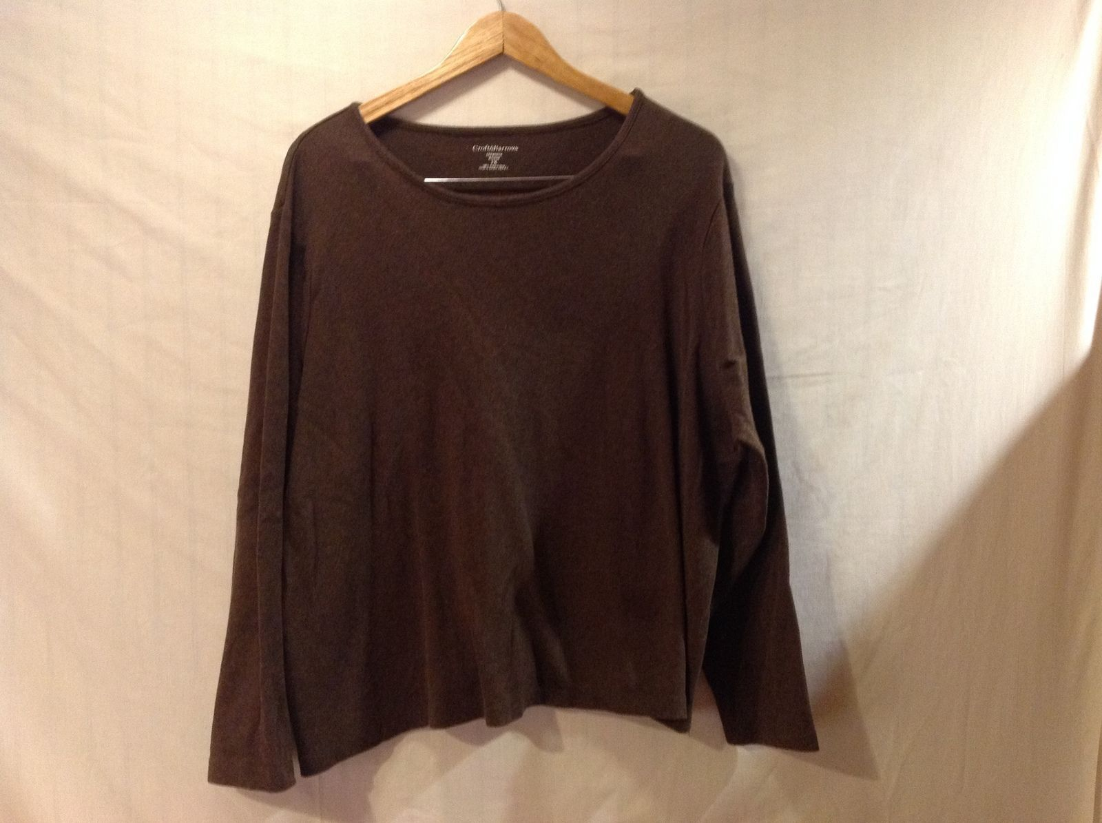 Sonoma Womans Brown Long Sleeve Shirt  Size 3XL
