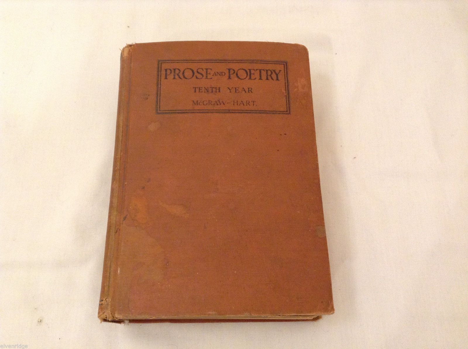 Vintage Prose and Poetry For the Tenth Year Book 1928