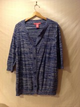 Woman Within Royal Blue w/ White Cardigan, Size XL