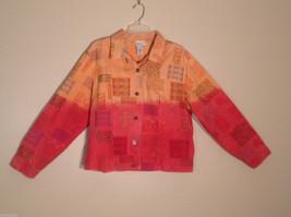 Womens Coldwater Creek Size XXL 100% Cotton Light Denim multicolor Jacket
