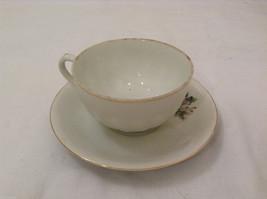 Vintage Japan Teacup and Saucer Set Peony Flowers Fine China image 2