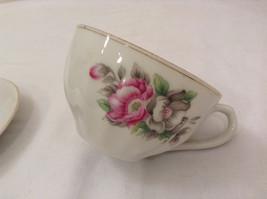 Vintage Japan Teacup and Saucer Set Peony Flowers Fine China image 4