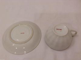 Vintage Japan Teacup and Saucer Set Peony Flowers Fine China image 5