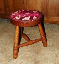 Pine Oak 3 Legged Footstool Stool  (ST18) - $159.00