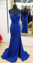 Spaghetti Straps Split Side Long Prom Dresses  - $99.99+