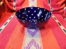 faberge galaxy blue crystal bowl in the original box - $350.00