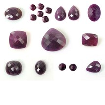 Natural Untreated RED RUBY Checker Cut Round Pear Oval Heart Cushion Gem... - $4.68+