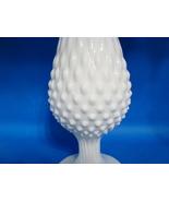"""Fenton milk glass 20"""" hob nail bud vase. - $20.00"""