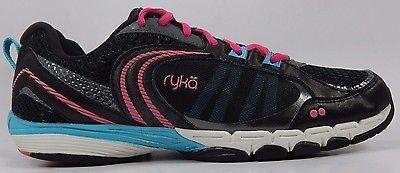 Ryka Flextra Women's Running Shoes Size US 8 M (B) EU 39 Black Pink Blue